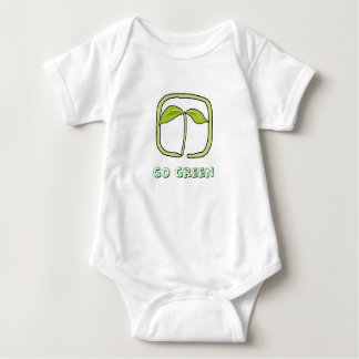 go green - baby baby bodysuit