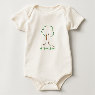 go green, baby organic baby bodysuit