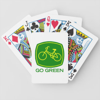 Go Green Bicycle Playing Cards