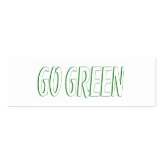 Go Green Bookmark Mini Business Card