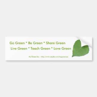 Go Green Bumper Sticker