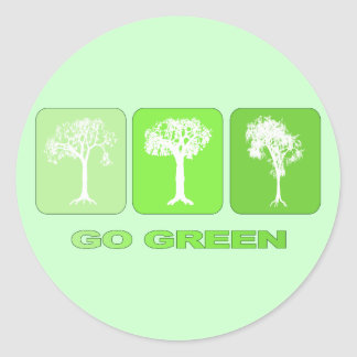 Go Green Classic Round Sticker