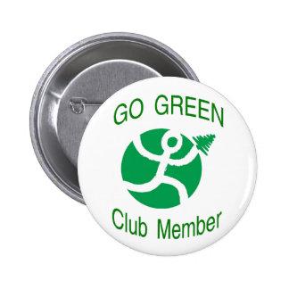Go Green Club Member Button