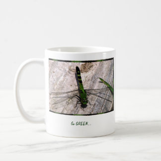 Go GREEN coffee mug with Genesis 2:15 scripture