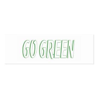 Go Green Contact Card Mini Business Card