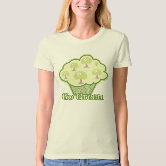 Go Green Cupcake T-Shirt