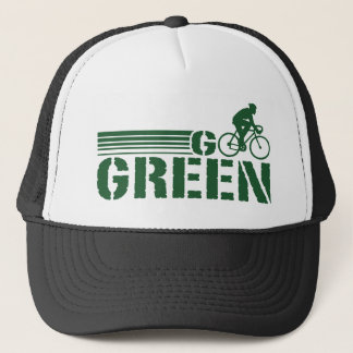 Go Green Cycling (male) Trucker Hat