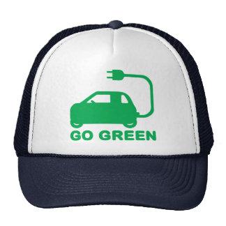 Go Green ~ Drive Electric Cars Trucker Hat