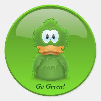 Go Green Ducky Sticker
