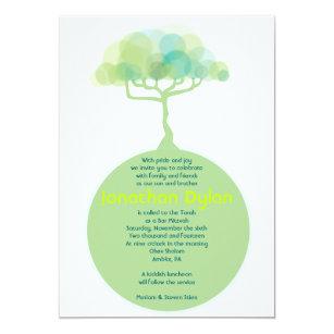 Go Green Earth Bar Bat Mitzvah Invitation