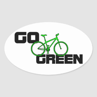 Go Green - Eco Friendly Bicycle Sticker