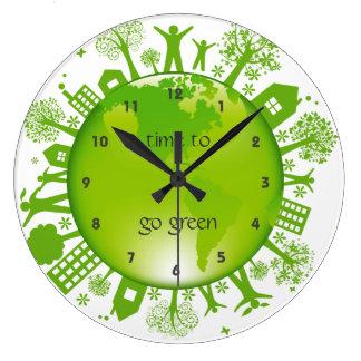 Go Green Ecology Design Wall Clock