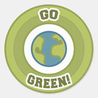 Go Green! Emblem Round Sticker