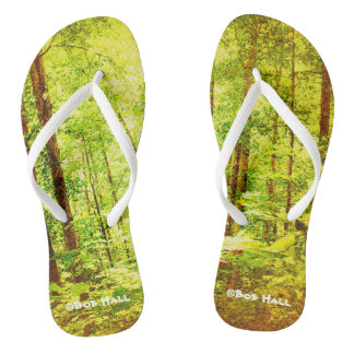 Go Green Flip flops by Bob Hall