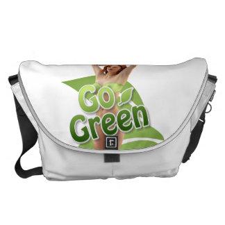 Go Green Girl Belle Messenger Bags