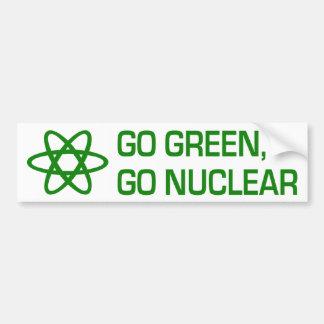 Go Green, Go Nuclear Bumper Sticker