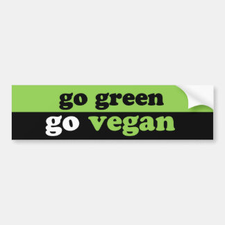 go green go vegan bumper sticker