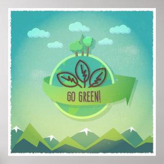 Go Green! illustration Poster