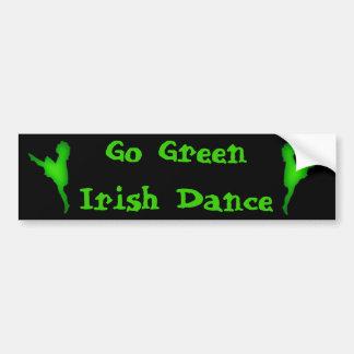 Go Green...Irish Dance Bumper Sticker