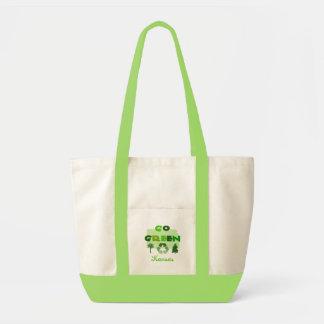 Go Green Kansas Seafoam Tote Bag