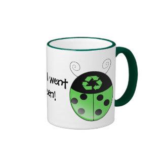 Go green!, ladybug ringer mug