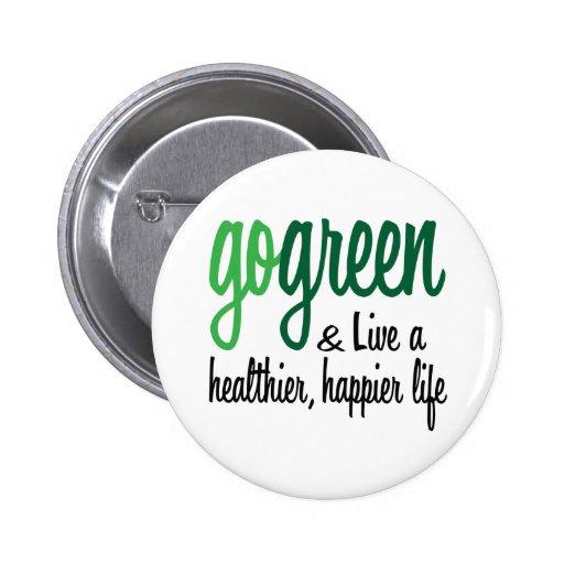 Go Green Live Happier Button