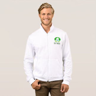 Go green men's jogging fleece jacket