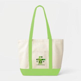 Go Green Minnesota Seafoam Accent Tote Bag