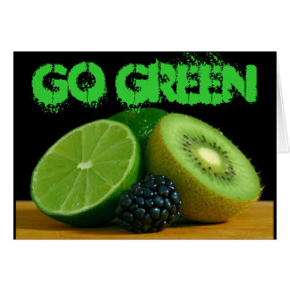 Go Green notecard Note Card