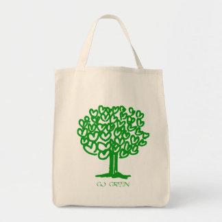 Go Green Organic Grocery Tote Bag