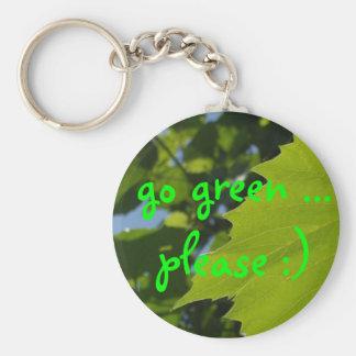 go green ... please :) keychain