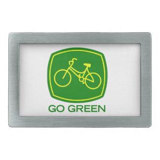 Go Green Rectangular Belt Buckles