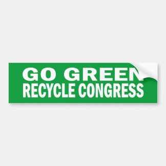 Go Green Recycle Congress Sticker Bumper Sticker