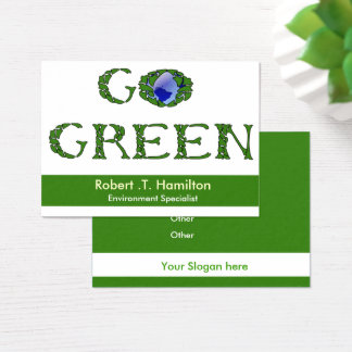 go green  recycling company Business Cards