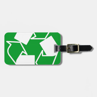 go green reduce recycle luggage tag