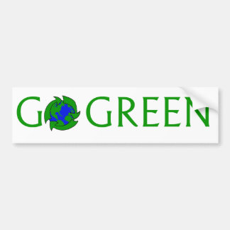 Go Green Sticker