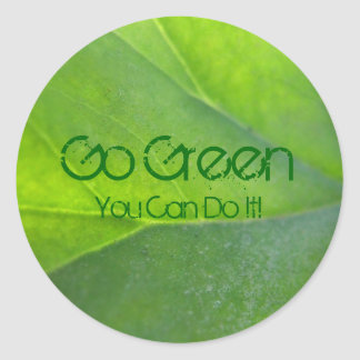 Go Green Stickers