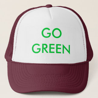 GO GREEN TRUCKER HAT