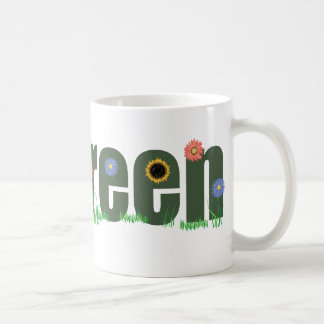 go green w/Flowers Coffee Mug