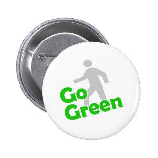 go green walk 2 inch round button