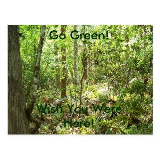 Go Green! Wish You Were Here! Postcard