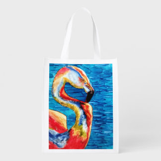 Go Green with a Pink Flamingo Grocery Bag