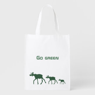 Go green with mooses reusable grocery bag