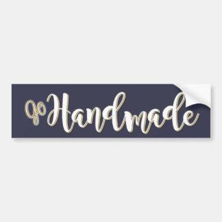 Go Handmade Logo Bumper Sticker