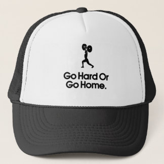 Go Hard OR Go Home. Funny Design Trucker Hat