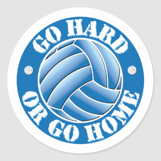 Go Hard or Go Home Vball Classic Round Sticker