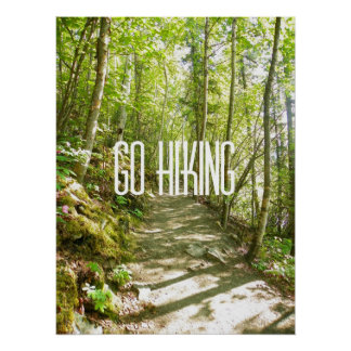 Go Hiking Poster