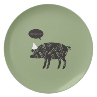 Go Hog Wild! Melamine Plate
