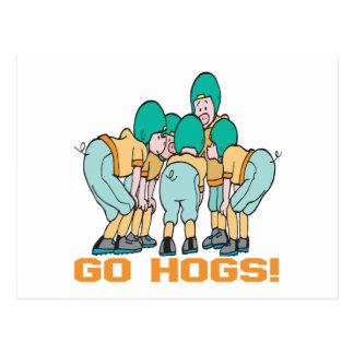 Go Hogs Postcard