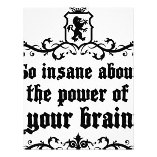 Go Insane About The Power Of Your Brain Letterhead